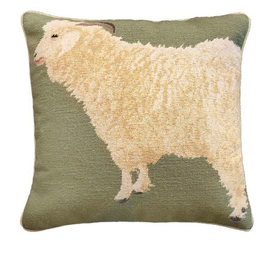 Angora Goat 18x18 Needlepoint Pillow