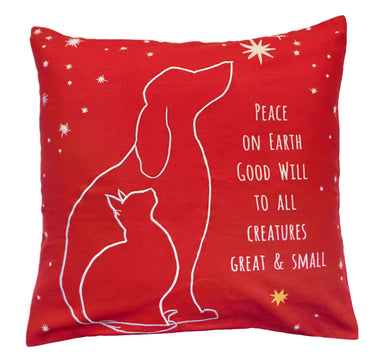 NPE030 Peace on Earth Decorative Pillow
