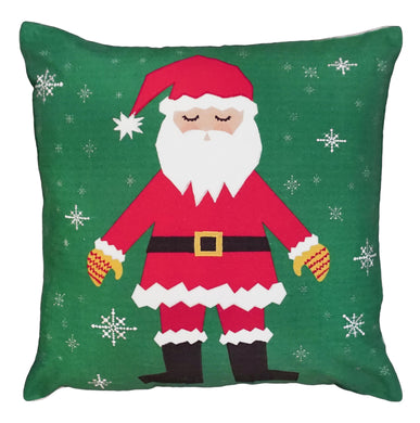 NPE-059 Snowflake Santa Decorative Pillow