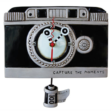 Capture The Moments Vintage Camera Clock Art by Allen Designs