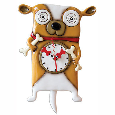 Roofus Happy Dog Clock Art by Allen Designs