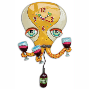 Happy Hour Octopus Clock Art by Allen Designs