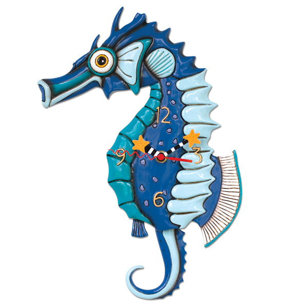 Salty Seahorse Clock Art by Allen Designs