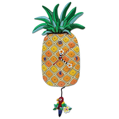 Pineapple Island Time Wall Clock