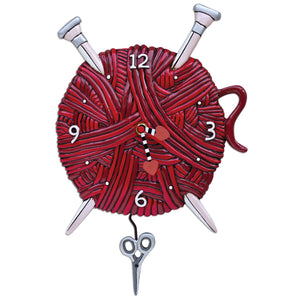 Knitting Love Wall Clock