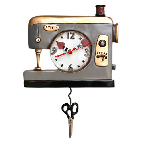 Back Stitch Sewing Machine Wall Clock