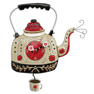 Kettle's ON Pendulum Wall Clock