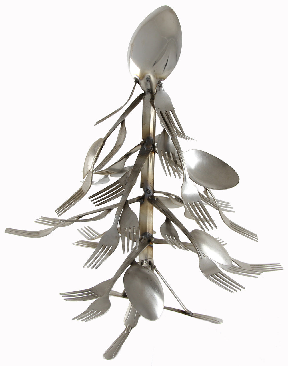 Small Christmas Tree Spoon and Fork Art
