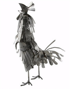 Fork and Spoon Rooster Statue