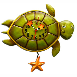 Turtle Shelldon Clock Art by Allen Designs