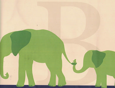Elephant RB92357B Wallpaper Border