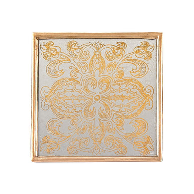 Manta Gold 4 Pc Coaster Set Square