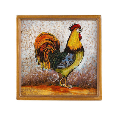 Rooster 4 Pc Coaster Set Square