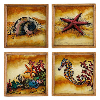 Seashore Assorted Coaster Set Square