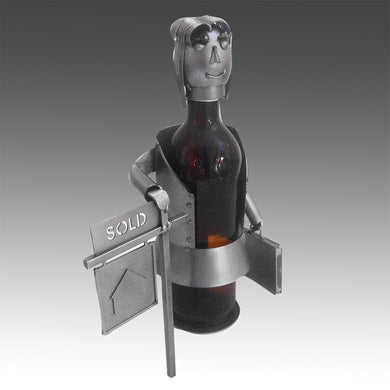 Real Estate Agent Female Wine Bottle Holder