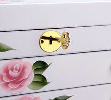Load image into Gallery viewer, White Floral Large Jewelry Box