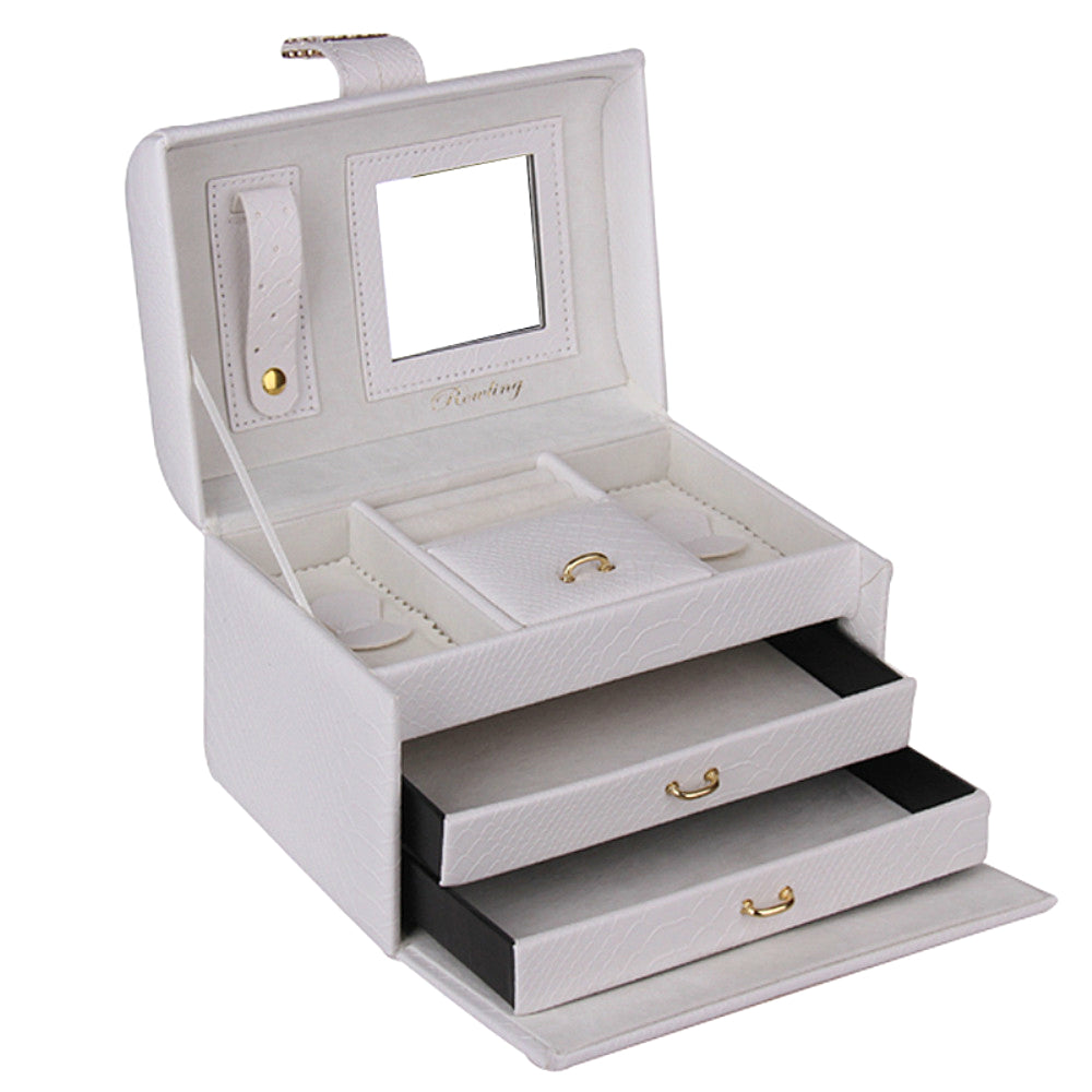 White Cute Miniature Jewelry Box