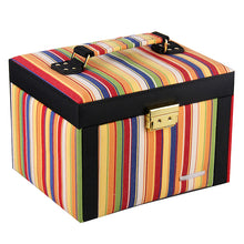 Load image into Gallery viewer, Rainbow Striped Jewelry Box