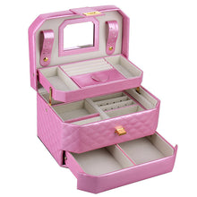 Load image into Gallery viewer, Pink Medium 2 Drawers Jewelry Box