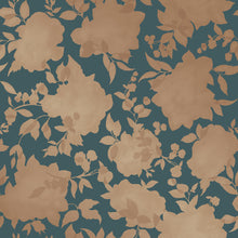 Load image into Gallery viewer, Silhouette Peacock Blue And Gold Self-Adhesive SI512 Wallpaper