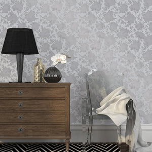 Silhouette Metallic Silver Self-Adhesive SI514 Wallpaper