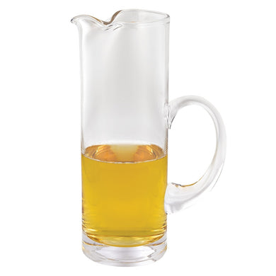 Stoli Mouth Blown Crystal Cylinder Pitcher