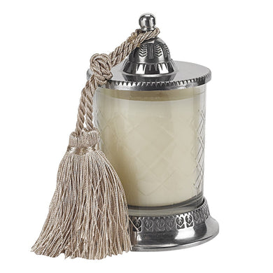 Candle Jar Vanilla Candle Silk Knotted Tassel