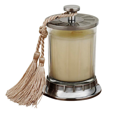 Vanilla Candle Hand Cut Jar withTassel
