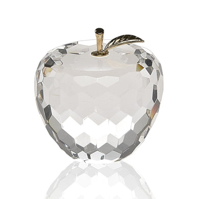 Faceted Apple Paperweight gold stem