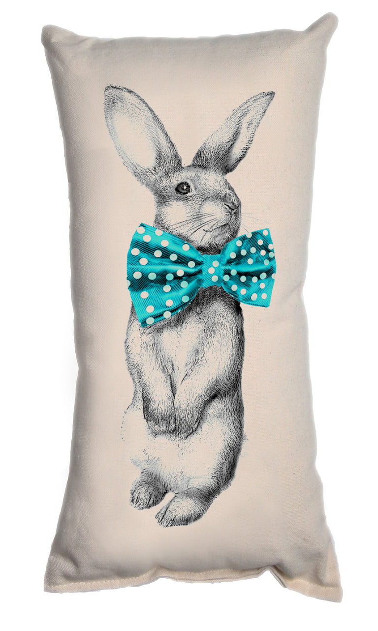 Bunny Bow Tie Decorative Pillow Small