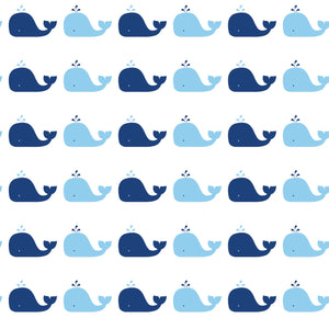 Whale Blue Self-Adhesive WH700 Wallpaper