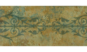 Green Brown Floral Grill SS75492B Wallpaper Border