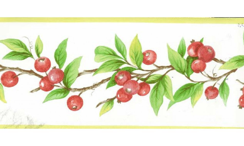 Red Berries Plant KT77913 Wallpaper Border