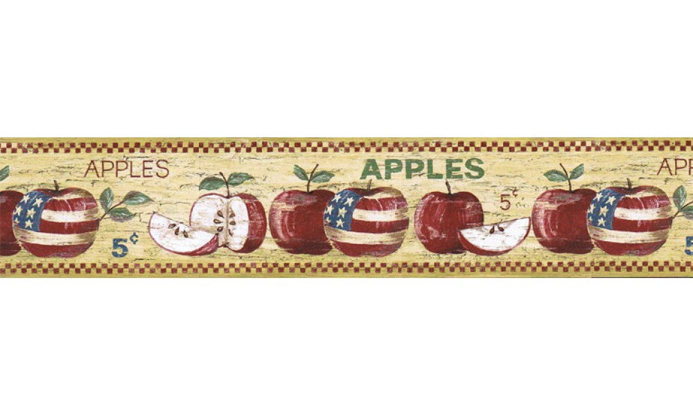 Apple Fruits HIC0001 Wallpaper Border