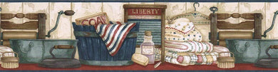 Country Laundry Room ACS59018B Wallpaper Border