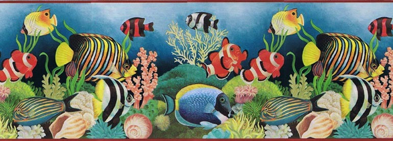 Sea Fauna Fish 594998 Wallpaper Border