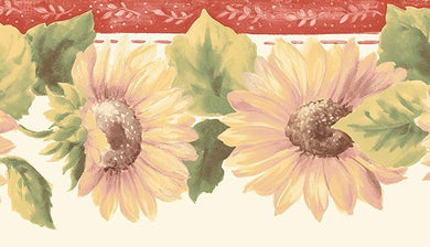 Red Yellow Sunflowers KC78356DC Wallpaper Border