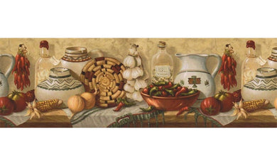 Kitchen EL49012B Wallpaper Border