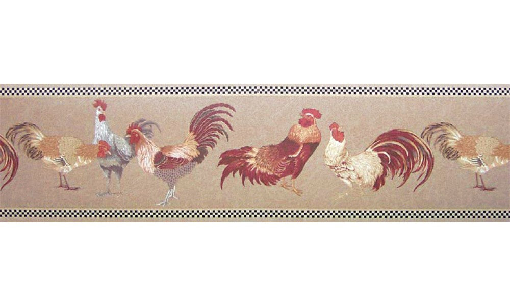 Roosters b82071 Wallpaper Border