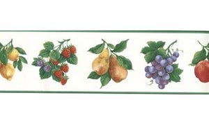 Green White Fruit GB30342 Wallpaper Border