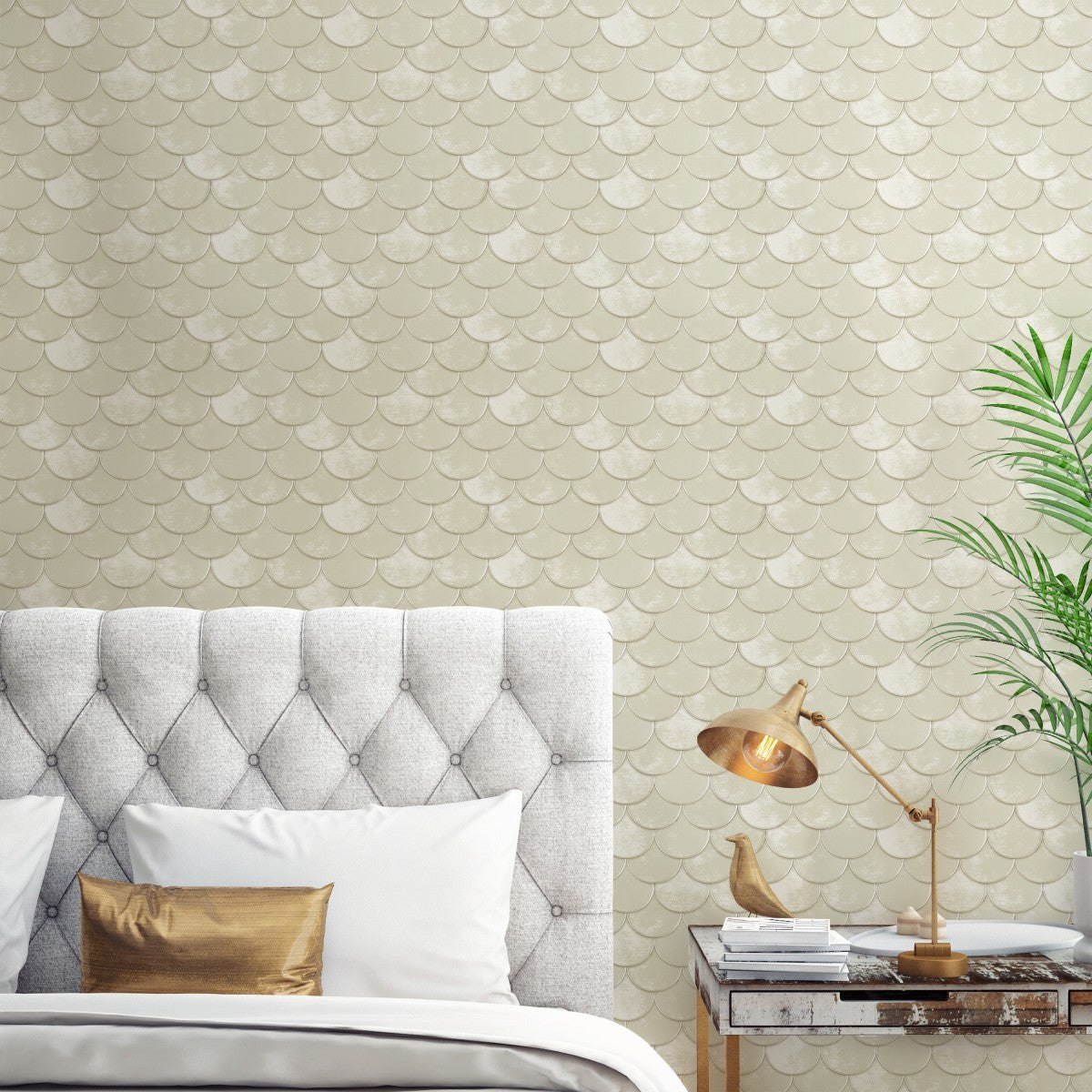 Brass Belly Pearl BR481 Self-Adhesive Wallpaper