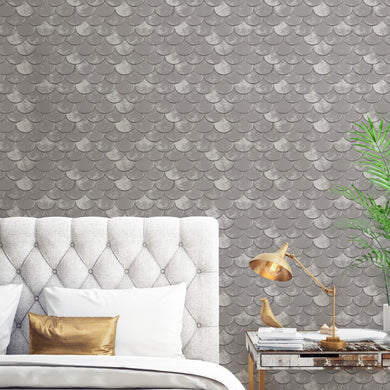 Brass Belly Pewter BR482 Self-Adhesive Wallpaper