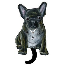 Load image into Gallery viewer, Brindle French Bulldog Dog Wagging Pendulum Clock