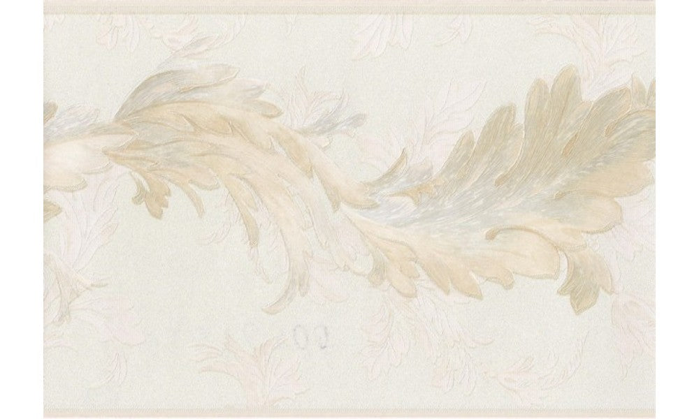Gold Light Pink Oak Leaves 31616300 Wallpaper Border