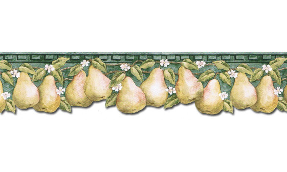 Pear Fruits PT24006B Wallpaper Border