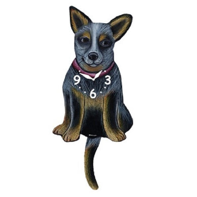Australian Cattle Dog Wagging Pendulum Clock