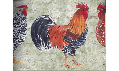 Light Moss Rooster OR159 Wallpaper Border