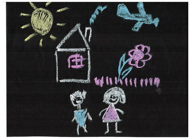 Chalkboard Contact Paper - Black with 5 Chalks