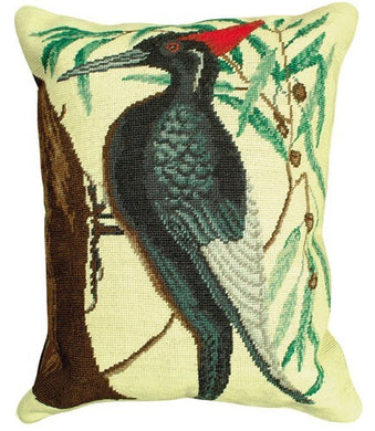 Woodpecker Large Decorative Pillow