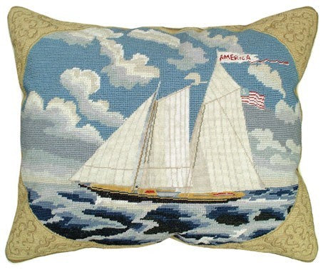 America 16x20 Needlepoint Pillow